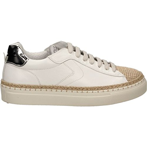 VOILE BLANCHE Chaussures femmes espadrille 0012011163.02.9118 PANAREA Corda Bianco Argenr