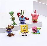 Movie Doll Spongebob Carino Q Versione Modellazione Giocattolo Modello Decorazione Regalo di Compleanno Set di 6