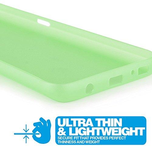 Ultra Thin Case MC24® per Apple iPhone 5c in blu - sottile custodia protettiva trasparente in polipropilene verde