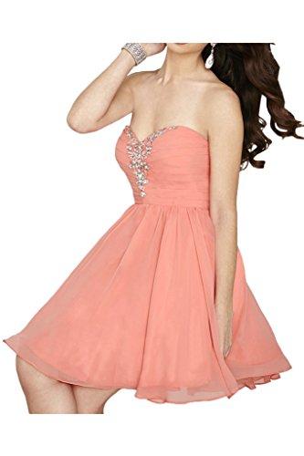 Promgirl House - Robe - Trapèze - Femme Rose - Orangerosa