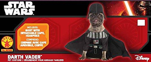 Imagen de darth vader perro disfraz infantil de star wars lado oscuro malvado villano cachorro mascota alternativa