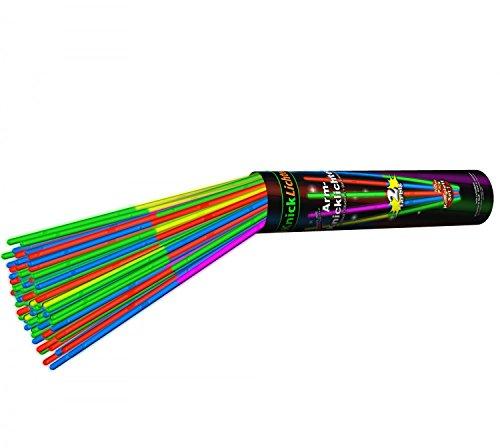 KnickLichter 100 zweifarbige Arm Knicklichter MULTICOLOR mit Doppelfarbkammer incl. 100 Steckverbindern
