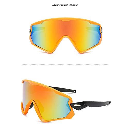 NAN® Sport Sonnenbrillen Outdoor-Männer Und Frauen Polarisierten Sport Sonnenbrillen Jugend Angeln Baseball Bike Laufen Fahren Golf Motorrad Brille,Yellow