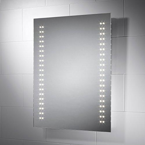 Pebble grey specchio per bagno con luci led tesino - Luci led per bagno ...