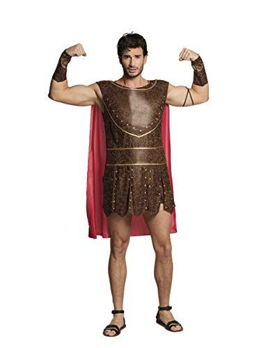 Generique - Römischer Krieger-Herrenkostüm Antik für Fasching braun-rot - Herkules Disney Kostüm