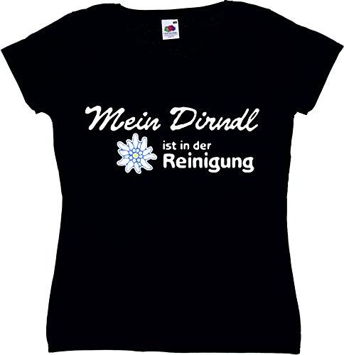 T-Shirt Oktoberfest Wiesn München Junggesellenabschied für Frauen Männer und Kinder in allen Größen XS bis 4XL oder Kinder 104 bis 164 Motiv Nr.23 Damen-Schwarz