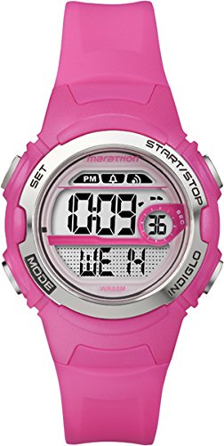 timex-marathon-womens-t5k771-watch-with-grey-dial-digital-display-and-pink-resin-strap