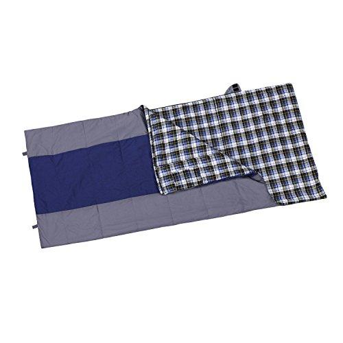 Berger Deckenschlafsack Arizona XXL blau grau warm für 3 Jahreszeiten blau grau 220 x 100 cm
