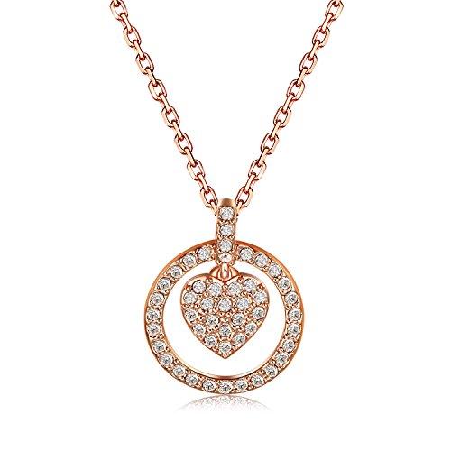 Swarovski Damen-Kette mit Anhänger Crocus Heart Kristall transparent 38 cm - 5112179