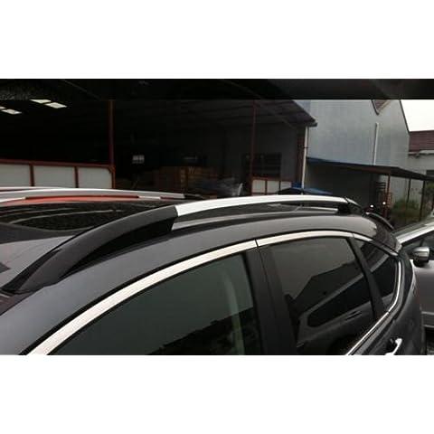 Negro + Plata Techo cremalleras laterales Barras portaequipajes para Honda CRV 2012-2015