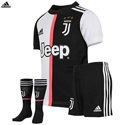 JUVENTUS Mini Kit Ronaldo Gara Home Campionato 2019/20 - Bambino - Maglia + Pantaloncini + Calzettoni - Taglia 116 cm 5/6 Anni