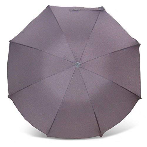 Sonnenschirm für Kinderwagen mit UV Schutz 50+ Grau von Heitmann Ø 80 cm