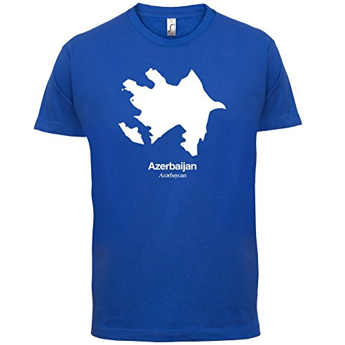 Azerbaijan / Aserbaidschan Silhouette - Herren T-Shirt - 13 Farben Royalblau