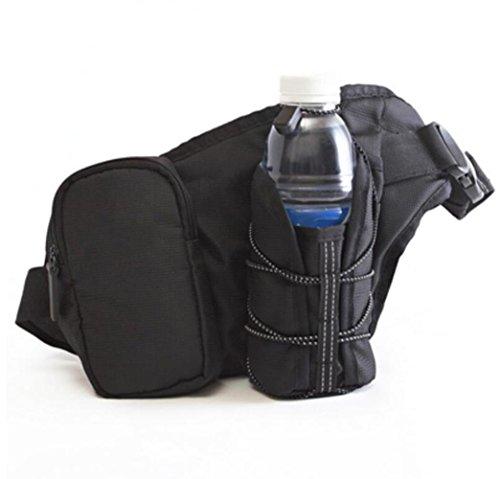 OOFWY Running Waistpack, bollitore sportivo borsa da tasca per zainetti del telefono mobile Waistpacks all'aperto borsa da bottiglia da acqua per la palestra ciclismo Escursioni a piedi uomini e donne C