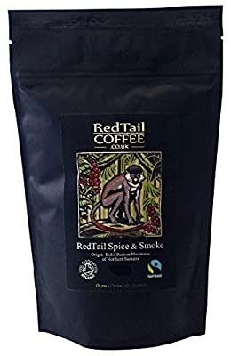 RedTail Coffee Spice and Smoke Whole Bean Coffee, 250 g by Clayton & Charles Coffee Merchants
