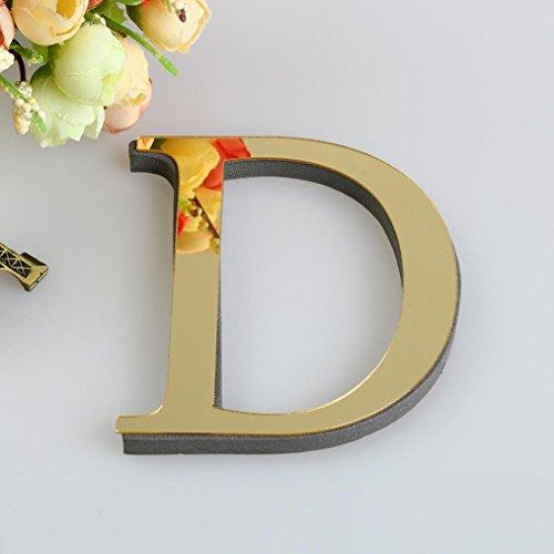 D1-licht-bad (Xshuai Neue stilvolle Design 10cm 26 Buchstaben DIY 3D Spiegel Acryl Wandaufkleber Decals Home Decor Wand Kunst Wandmalerei (D1))