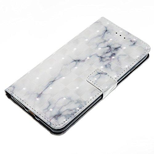 GR Für IPhone 7 Plus-Marmor Steinkorn Texure Muster PU-Leder Case Cover, Retro Bookstyle Flip Stand Case mit Magnetverschluss und Kartensteckplätze ( Color : A ) B