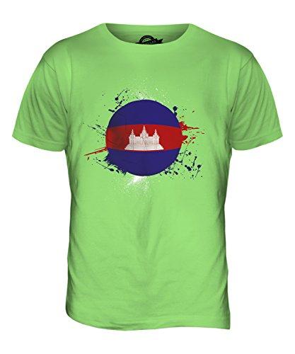 CandyMix Kambodscha Fußball Herren T Shirt Limettengrün