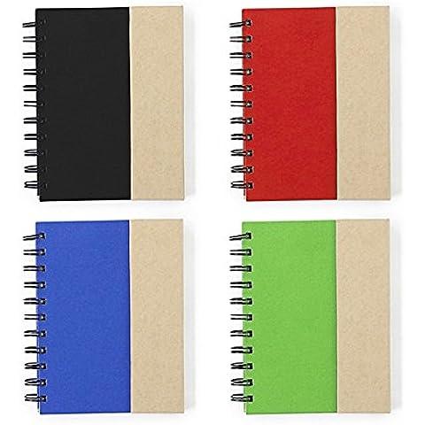 La Simon 2537portátil, mini diario Diary, natural de cartón con, de rayas, papel reciclado 12,4x 15x 1,6cm personalizado/personalizado Impreso portátiles para fines de publicidad de negocios, promoción y otras ocasiones. Paquete De 50Unidades., color