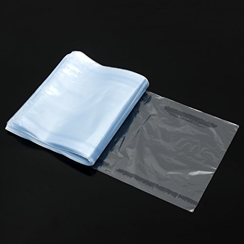 ChaRLes 500Pcs Pvc Heat Shrink Wrap Bags Film Clear Flat Poly Storage Bag Candles Packaging 15 x 27Cm -