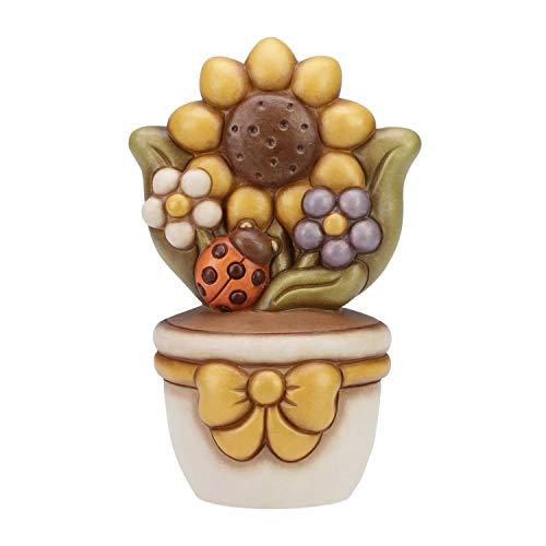 Thun vasetto girasole ceramica 25 cm h