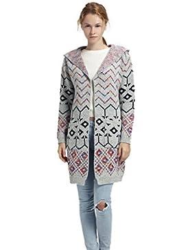 Mujer Cardigan Suéter Azteca Con bolsillos y Hoodie Ropa de moda Frente-Abierto suave y caliente