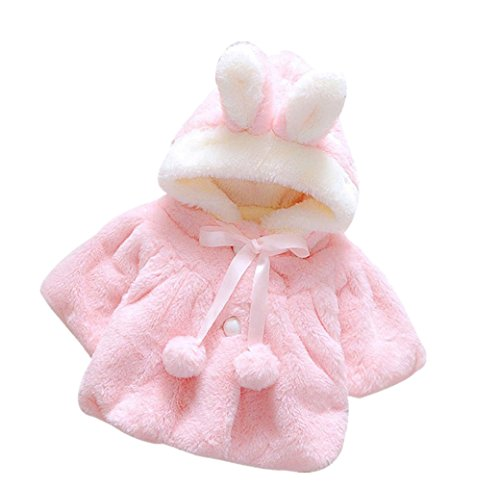 Bekleidung Longra Baby Mädchen (70(0-9 Monate), Pink) (Flanell Wolle Plaid)