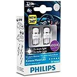 Philips 127996000KX2 Lot de 2 ampoules LED T10 W5W X-treme Vision 6000 K CeraLight 360°