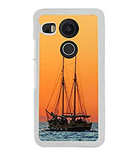 Boat in the Sea 2D Hard Polycarbonate Designer Back Case Cover for LG Nexus 5X :: LG Google Nexus 5X New