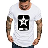 Zolimx T-Shirt Uomo Uomini Manica Corta Maglietta,Maglietta della del Manicott Estate Uomini Moda Casuale Solido Colore Pannello Manica Corta T-Shirt Top Camicetta