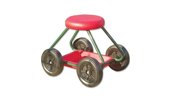 Nrs healthcare m sgabello da giardino con ruote amazon