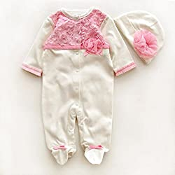 Baby Clothes + Hats, Transer® Babies Outfits Kids Christmas Clothes for Girls Bodysuit Cotton Infants Rompers + Hat/Caps Toddlers Coats 0-9 Months Playsuits Clothing Set