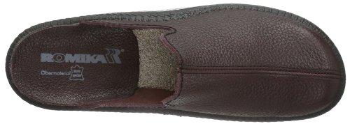 Romika Mocasso 202 Pantofole Da Uomo | Pantofole In Vera Pelle Per Uomo | Ciabatte Con Supporto Articolare Integrato Rosso (bordo 403)