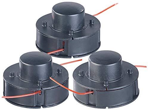 AGT Professional Zubehör zu Mini-Motorsense: 3er-Set Ersatz-Fadenspulen für Akku-Rasentrimmer AW-40.rt, 3,5 m (Elektro-Gras-Freischneider) | Garten > Gartengeräte > Rasentrimmer | Nylon | AGT