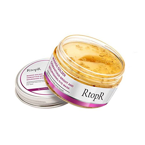 Lorsoul Anti-Puffiness Mango Goldene Osmanthus Augenmaske, Feind Schwarz Augen Rim, Anti-Aging-Behandlung, Augenlotion Reparatur - 80g Golden Rim
