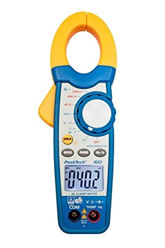 Peak Tech 1000a AC pinza amperometrica/Multimetro–3999–Cifre con tester/voltmetro/Diode test/termometro/capacità Test, 1pezzi, P 1610