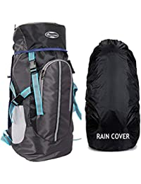 POLE STAR Hike GREYBLK Rucksack with RAIN Cover/Trekking/Hiking BAGPACK/Backpack Bag