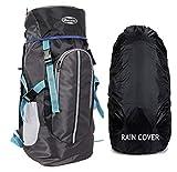 POLE STAR Hike GREYBLK Rucksack with RAIN Cover/Trekking/Hiking BAGPACK/Backpack Bag