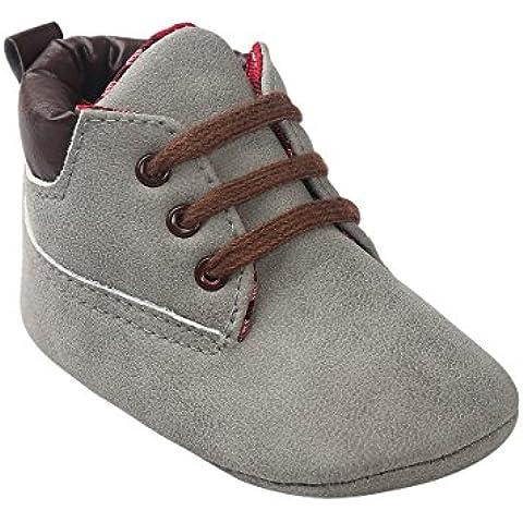 Zapatos de bebé Auxma Bebé niña niño zapatos,cuero suela suave infantil niño zapatos con