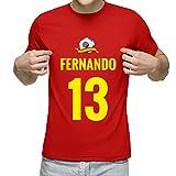 Camiseta Personalizada con Nombre y Número para animar a la Selección (Rojo) 21d7dee60e5c2