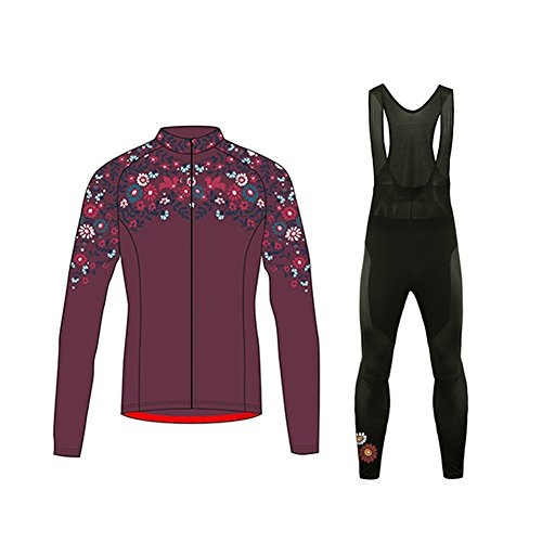 Uglyfrog ciclismo body donna manica lunga set ciclismo magliette+long pantaloni gel pad abbigliamento inverno caldo with fleece zrn03