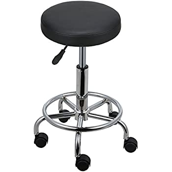 Homdox Swivel Stool Height Adjustable Rolling Bar Stool