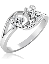 Real Solid 18KT White Gold Hallmarked And Diamond Ring For Women Jewellery