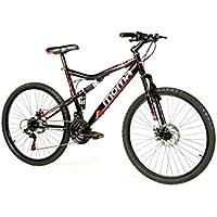 Moma Bikes Vélo VTT, HIT26, Aluminium, Shimano 21V, Freins a Disque, Suspension Avant