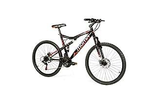 """Moma Bikes Bicicletta Mountainbike 26"""" BTT SHIMANO, doppio disco e doppia sospensione"""