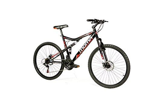 """Moma bikes, Bicicletta Mountainbike 26\"""" BTT SHIMANO, doppio disco e doppia sospensione"""