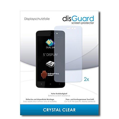 disGuard® Bildschirmschutzfolie [Crystal Clear] kompatibel mit Allview V1 Viper L [2 Stück] Kristallklar, Transparent, Unsichtbar, Extrem Kratzfest, Anti-Fingerabdruck - Panzerglas Folie, Schutzfolie
