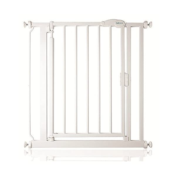 Safetots Pressure Fit Self Closing Gate, 68.5-75 cm, White Narrow Safetots Pressure fitted gate Narrow safety gate Self closing gate 1
