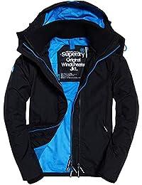 3d621e208881b Superdry pour Femme Arctic Capuche Pop Fermeture Éclair Coupe-Vent en  Noir Pigment Bleu