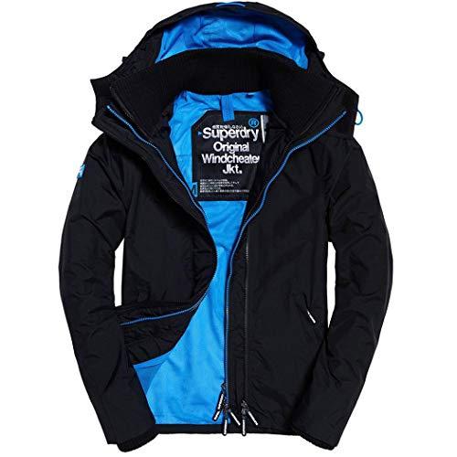 Superdry - Cappotto - Uomo Black Pigment Blue Large 1116d2c22d9
